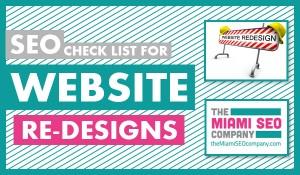 SEO check list for website re-designs copy