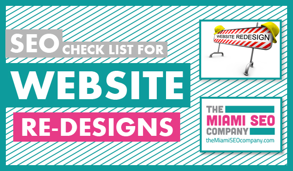 SEO check list for website re-designs copy