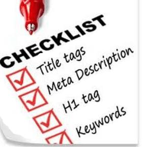 Checklist for SEO E-Commerce Writing