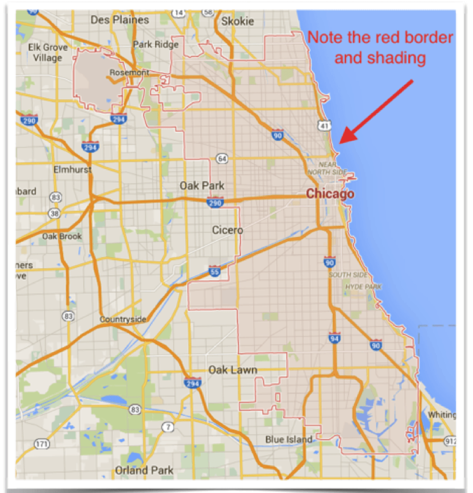 Chicago City Limits Map Chicago City Limits Map | Fashionevolution Chicago City Limits Map